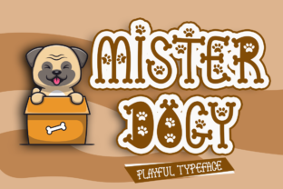 Print on Demand: Mister Dogy Display Font By Sealoung