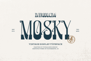Print on Demand: Mosky Display Font By typealiens