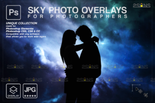 Night Sky Overlays, Pastel Sky Space Graphic Actions & Presets By 2SUNS