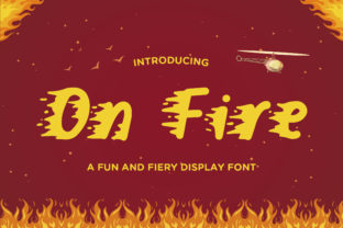Print on Demand: On Fire Display Font By TypeFactory