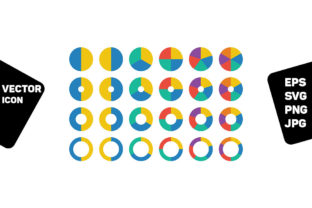 Print on Demand: Pie Chart Icon Vector Graph Diagram Graphic Icons By TukTuk Design