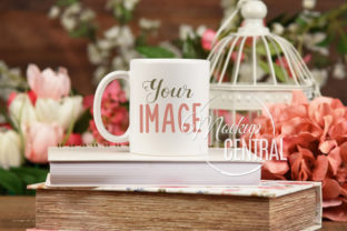 Pretty Spring Coffee Glass Mug Mockup Graphic Product Mockups By Mockup Central