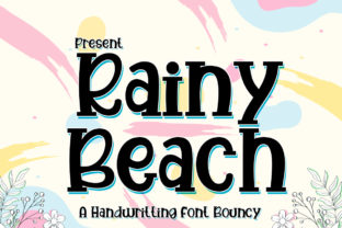 Print on Demand: Rainy Beach Display Font By edwar.sp111