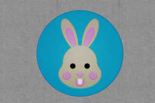 Round Easter Bunny Easter Embroidery Design By Digital Creations Art Studio