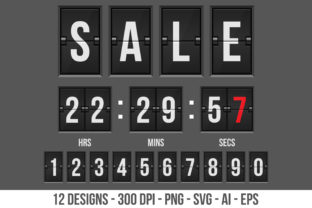 Sale Countdown Timer Graphic Illustrations By Creativeclipcloud