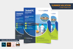 Summer Vacation Travel Flyer Design Graphic Print Templates By Graphic Stock
