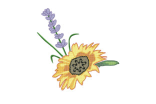 Print on Demand: Sunflower and Lavender Bouquets & Bunches Embroidery Design By EmbArt