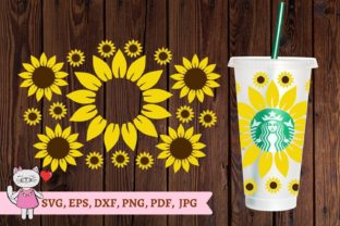 Sunflower Svg, Starbucks Cold Cup 24 Svg Graphic Crafts By  Magic world of design