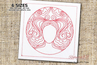 Taurus Astrological Sign Redwork Religion & Faith Embroidery Design By Redwork101