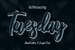 Print on Demand: Tuesday Script & Handwritten Font By darully.creator