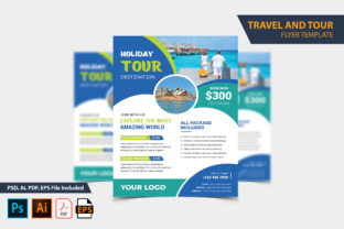 Vacation Travel & Tour Flyer Design Graphic Print Templates By Graphic Stock