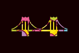 Print on Demand: Brooklyn Bridge Easter Sublimation Graphic Print Templates By expressyourself82