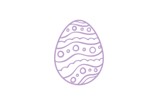 Easter Egg Simple Icons Outline Graphic Icons By myplumpystudio