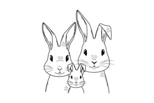 Rabbit Family Portrait Animals Craft Cut File By Creative Fabrica Crafts