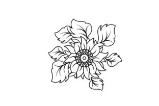Tooled Leather Style Sunflowers Designs & Drawings Craft Cut File By Creative Fabrica Crafts