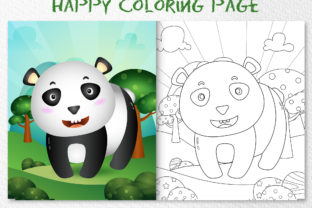 A Cute Panda Animal 2 - Coloring Page Graphic Coloring Pages & Books Kids By wijayariko