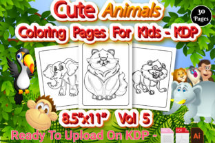 Print on Demand: Animal Coloring Book for Kids - Vol 5 Graphic KDP Interiors By Creative Designer