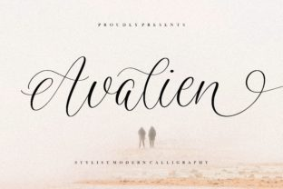 Print on Demand: Avalien Script & Handwritten Font By Balpirick