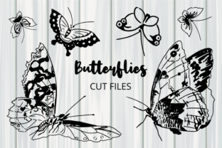 Print on Demand: Beautiful Black & White Butterflies Graphic Crafts By Prawny