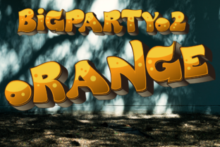 Print on Demand: BigPartyO2 Orange Color Fonts Font By glukfonts