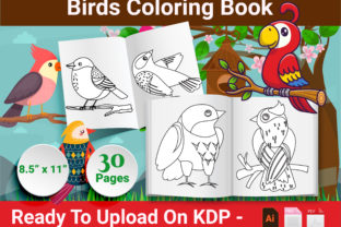 Print on Demand: Birds Coloring Pages for Kids - KDP Graphic KDP Interiors By Creative Designer