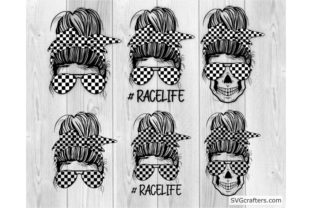 Print on Demand: Bundle Messy Bun Racelife Svg, Racelife Graphic Crafts By SVGcrafters