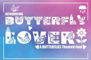 Print on Demand: Butterfly Lover Decorative Font By KtwoP
