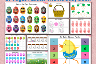 Easter Busy Book Printable for Toddlers Graphic K By WorksheetsWithFun