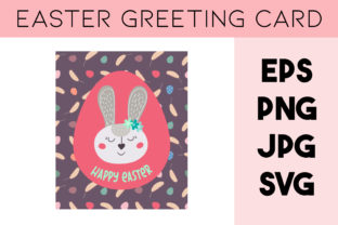 Print on Demand: Easter Greeting Card, Rabbit SVG, Bunny Graphic Illustrations By Art's and Patterns