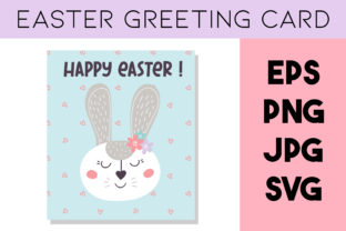 Print on Demand: Easter Rabbit Greeting Card,Easter Bunny Graphic Illustrations By Art's and Patterns