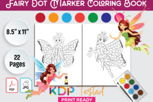 Fairy Dot Marker Coloring Page Graphic KDP Interiors By GraphicTech360