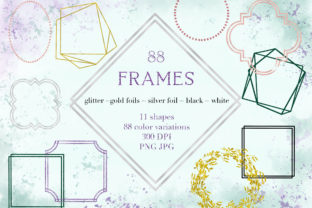 Print on Demand: Frames Glitter Gold Shapes Elements Graphic Objects By Ducatum