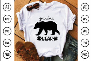 GRANDMA BEAR Graphic Crafts By Printable Store