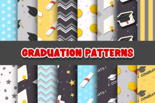 Print on Demand: Graduation Digital Papers Patterns Graphic Patterns By Grafixeo