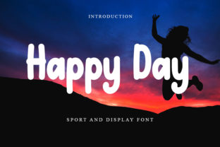 Print on Demand: Happy Day Display Font By Intana Type