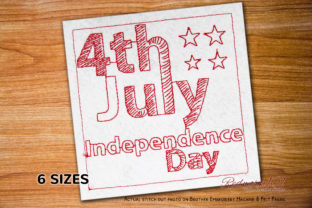 Happy Independence Day Celebration Independence Day Embroidery Design By Redwork101