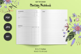 Print on Demand: KDP Meeting Notebook Graphic KDP Interiors By The Low Content Bookshelf