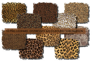 Print on Demand: Leopard Background Sublimation Bunble Graphic Print Templates By Arinnnnn Design