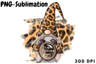 Leopard Gnome Sublimation Graphic Backgrounds By Tanya Kart