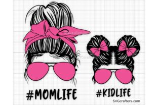 Print on Demand: Messy Bun Momlife Svg, Mom Life Svg Graphic Crafts By SVGcrafters