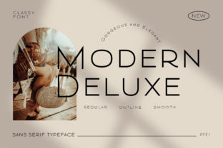 Print on Demand: Modern Deluxe Sans Serif Font By fontherapy