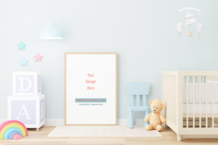 Print on Demand: Nursery Digital Mockup,Frame Mockup Gráfico Mockups de Productos Por iJStudio