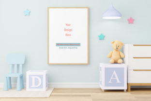 Print on Demand: Nursery Digital Mockup,Frame Mockup Graphic Product Mockups By iJStudio