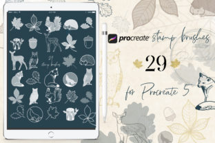 Print on Demand: Procreate Stamps Brush Forest Animal Graphic Brushes By Ducatum
