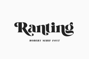Print on Demand: Ranting Serif Font By syafbe