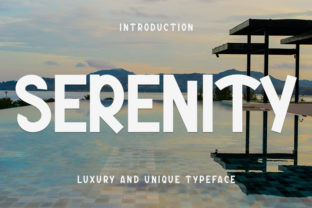 Print on Demand: Serenity Display Font By Intana Type