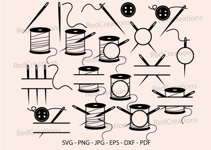 Sewing Needle Svg, Quilte, Monogram SVG File