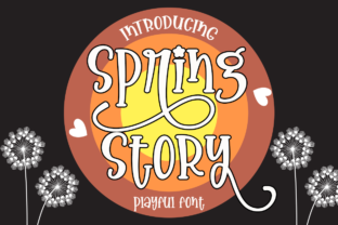 Print on Demand: Spring Story Display Font By Supersemar Letter