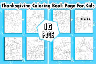 Thanksgiving Coloring Book Page for Kids - 1