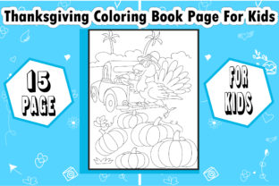 Thanksgiving Coloring Book Page for Kids - 2